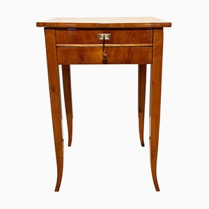 Biedermeier Sewing Table with Drawers in Cherry Veneer, South Germany, 1830s