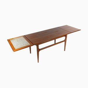 Danish Coffee Table in Teak with Extensions, 1960s