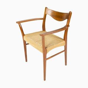 Dänischer Armlehnstuhl aus Teak und Papierkordel, 1960er