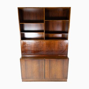 Moel No. 9 Rosewood Bookcase with Cabinets by Omann Junior