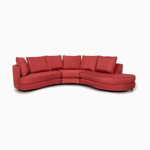 Sofá esquinero rojo de Rolf Benz