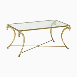 Coffee Table in Gilt Iron from Maison Ramsay, 1950s