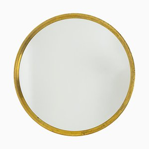 Series Mirrors in Gilt Brass, 1970s, Set of 9