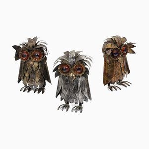 Owls in Metal, 1970, Set of 3