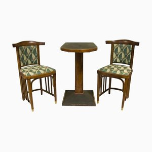 Antique Viennese Secession Lounge Chair, 1910s, Set of 3