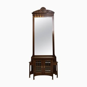 Viennese Secession Huge Hall Mirror, 1910