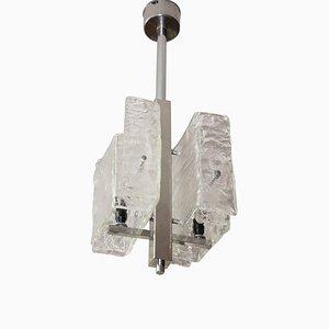 Lámpara colgante italiana de Carlo Nason para Mazzega, años 70