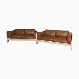 Bastiano Leather Sofa by Afra & Tobia Scarpa, 1970s