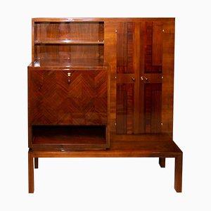 Functionalist Art Deco Walnut Sideboard, 1930s