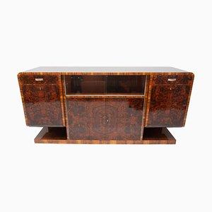 Art Deco Walnut Veneer Sideboard, 1930s