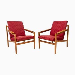 Scandinavian Style Armchairs, 1960s, Set of 2