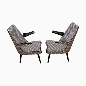Lounge Armchairs, Central Europe, 1960s, Set of 2