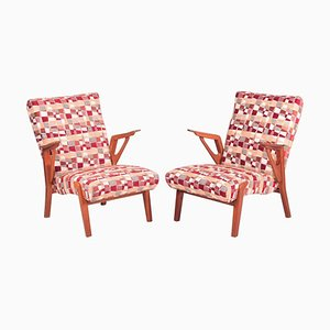 Beech Armchairs by Bohumil Landsman, 1960s, Set of 2