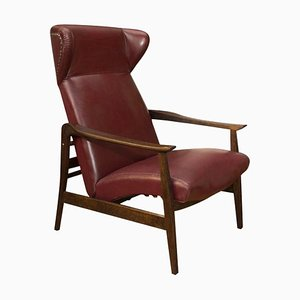 Leather Adjustable Wingback Chair from ULUV, 1950s