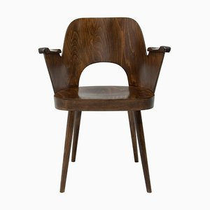 Bentwood Writing Desk Armchair by Radomír Hofman for Ton