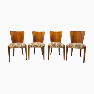 Art Deco H-214 Chairs by Jindrich Halabala for ÚP Závody, 1950´s, Set of 4