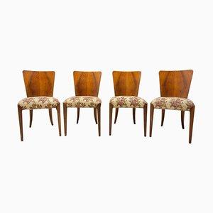 Art Deco H-214 Stühle von Jindrich Halabala für ÚP Závody, 1950er, 4er Set