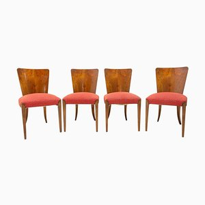 Art Deco H-214 Chairs by Jindrich Halabala for ÚP Závody, 1950s, Set of 4