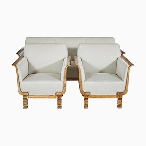 Scandinavian Birch 3 Piece Suite by Carl Malmsten for David Blomberg, Set of 3