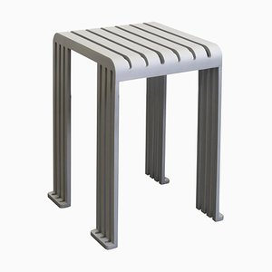 Grey Aluminium Tootoo Stool by Helder Barbosa