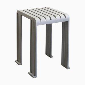 Sgabello Tootoo in alluminio grigio di Helder Barbosa