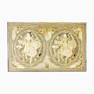 Vintage Framed Canvas Prints Temple - Gold