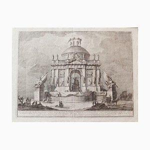 The Temple of Peace - Original Radierung von Giuseppe Vasi - Mid-18th Century