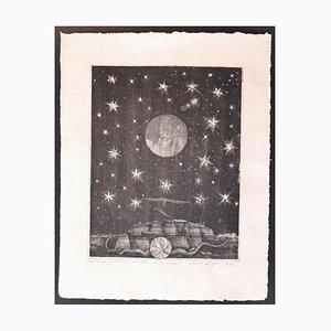 Dream - Original Etching by Ernst Fuchs - 1962