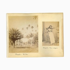 Unknown, Acapulc: Ancient Views and Costumes, Vintage Photo, 1880s, Set of 3