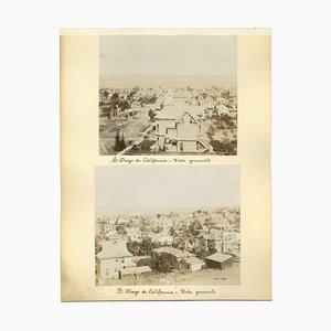 Sconosciuta, vedute antiche di S. Diego, in California, Foto vintage, fine XIX secolo, set di 4