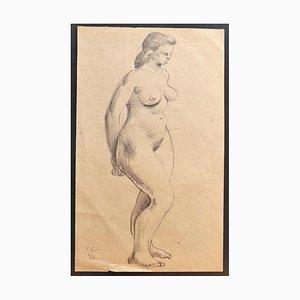 Akt - Original Bleistiftzeichnung von Tibor Gertler - 1946