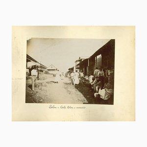 Unknown, Colon Bay and Colon Market, Vintage Photo, 1880er, 2er Set