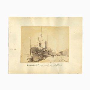 Inconnu, Vue Antique du Port de Ensenada Mexico, Photo, 1880s
