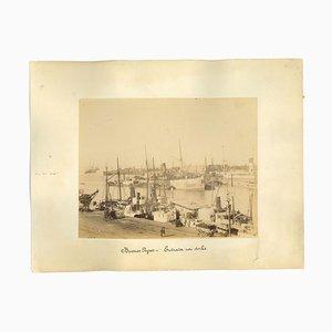 Desconocido, vista antigua del puerto de Buenos Aires, foto, década de 1880