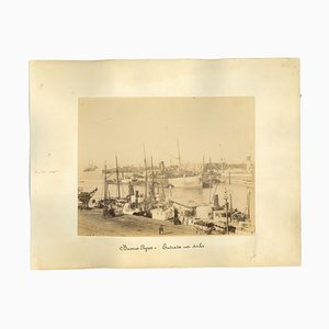 Unknown, Ancient View of the Port of Buenos Aires, Photo, 1880s