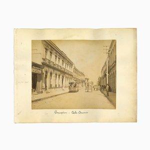Desconocido, Vista antigua de la concepción, Calle Comercio, Chile, Foto, década de 1880