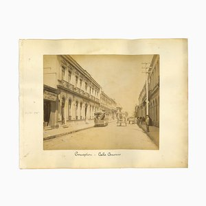 Sconosciuto, Ancient View of Conception, Calle Comercio, Chile, Photo, 1880s