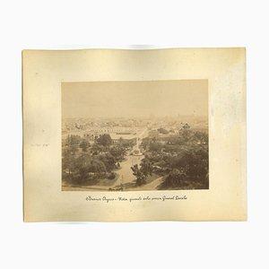 Desconocido, Vista antigua de Buenos Aires, Argentina, Foto, década de 1880. Juego de 2