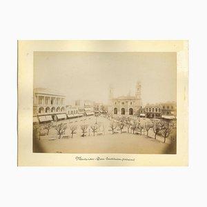 Desconocido, Vistas antiguas de Montevideo, Uruguay, Foto, década de 1880. Juego de 2