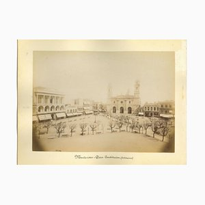 Sconosciuti, vedute antiche di Montevideo, Uruguay, foto, fine XIX secolo, set di 2