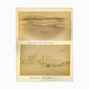 Unknown, Ancient Views of Guatemala City, Photos, 1880s, Set of 3