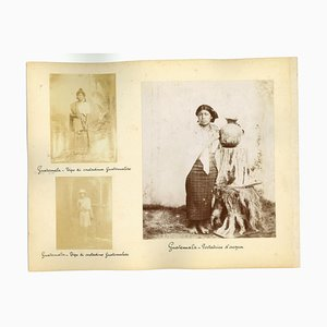 Unknown, Ancient Customs and Traditions of Guatemala, Photo, 1880s, Set of 6