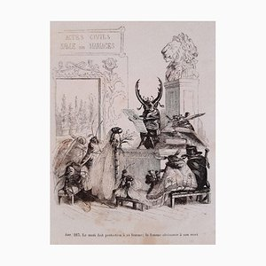 JJ Grandville, Privacy and Public Animal, Illustrationen, 1868