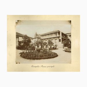 Vistas antiguas desconocidas de Acapulco, fotos, década de 1880. Juego de 2
