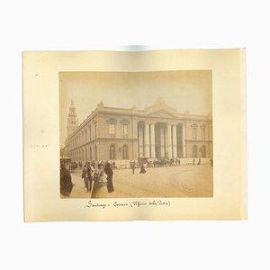 Sconosciuti, vedute antiche di Santiago, Cile, foto, fine XIX secolo, set di 2