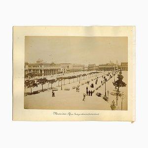 Sconosciuto, antica veduta di Montevideo, foto, fine XIX secolo, set di 2
