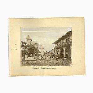 Sconosciuti, vedute antiche di Panama City, Foto, 1880 circa, set di 2