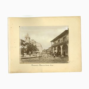 Unknown, Ancient Views of Panama City, Photos, 1880s, Set of 2