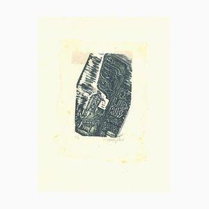 Unknown - Ex Libris Kadar Lajos - Original Holzschnitt - Frühes 20. Jahrhundert