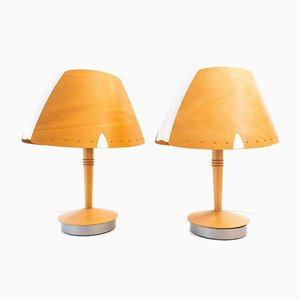Model Briefs Lucid Table Lamps, France, 1970s, Set of 2